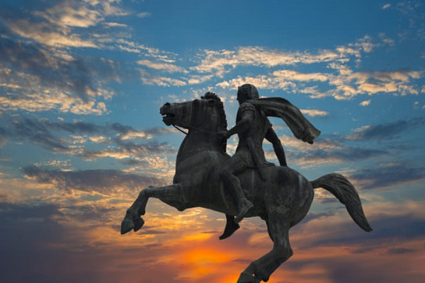 The sculpture of the Alexander the great